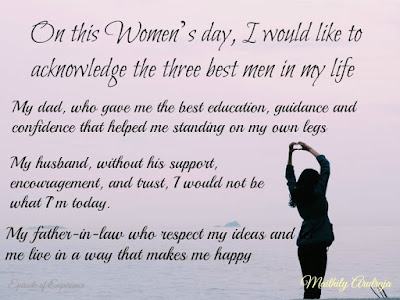 Women's Day Thank you note from a Woman to men