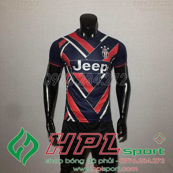 Áo bóng đá câu lạc bộ Juvetus training đen đỏ