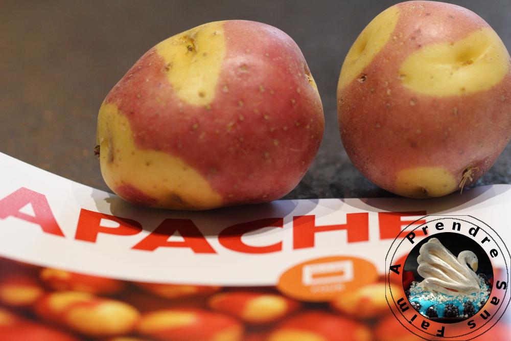 Pommes de terre apache rôties à la crème de jambon cru