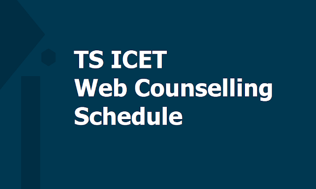 Final Phase TS ICET Web Counselling Schedule 2019