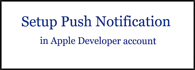Setup Push Notification in Apple Developer account