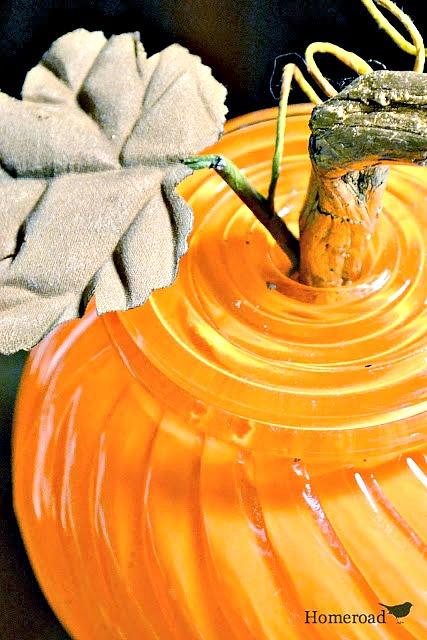 glass globe pumpkin