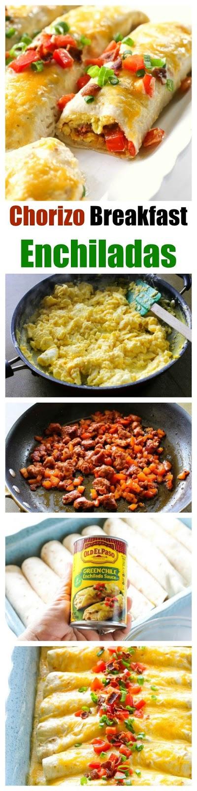 Chorizo Breakfast Enchiladas