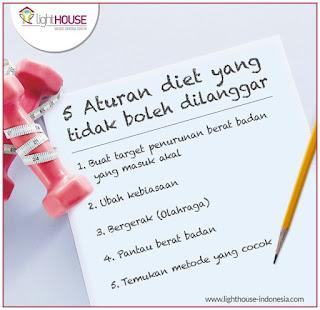 Aturan diet Kendalikan berat badan