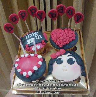 Cupcake Ulang Tahun ke 22 Tahun Lucu