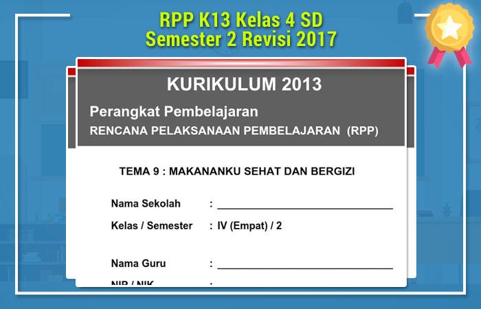 RPP K13 Kelas 4 SD Semester 2