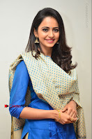 Actress Rakul Preet Singh Stills in Blue Salwar Kameez at Rarandi Veduka Chudam Press Meet  0119.JPG
