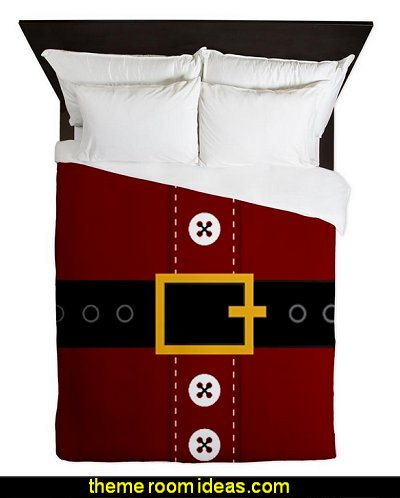 Santa Suit Christmas Queen Duvet  Christmas decorating ideas - Christmas decor - Christmas decorations - Christmas kitchen decor - santa belly pillows - Santa Suit Duvet covers - Christmas bedding - Christmas pillows - Christmas  bedroom decor  - winter decorating ideas - winter wonderland decorating - Christmas Stockings Holiday decor Santa Claus - decorating for Christmas - 3d Christmas cards