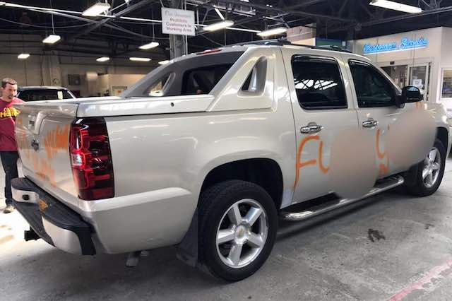 Faith in Humanity - When a man pulled into an auto repair shop asking for estimates for erasing racist graffiti done on his truck, the Collison Masters repair shop in Buffalo dropped everything they were doing and cleaned the car in just 30 minutes, refusing to take any money.