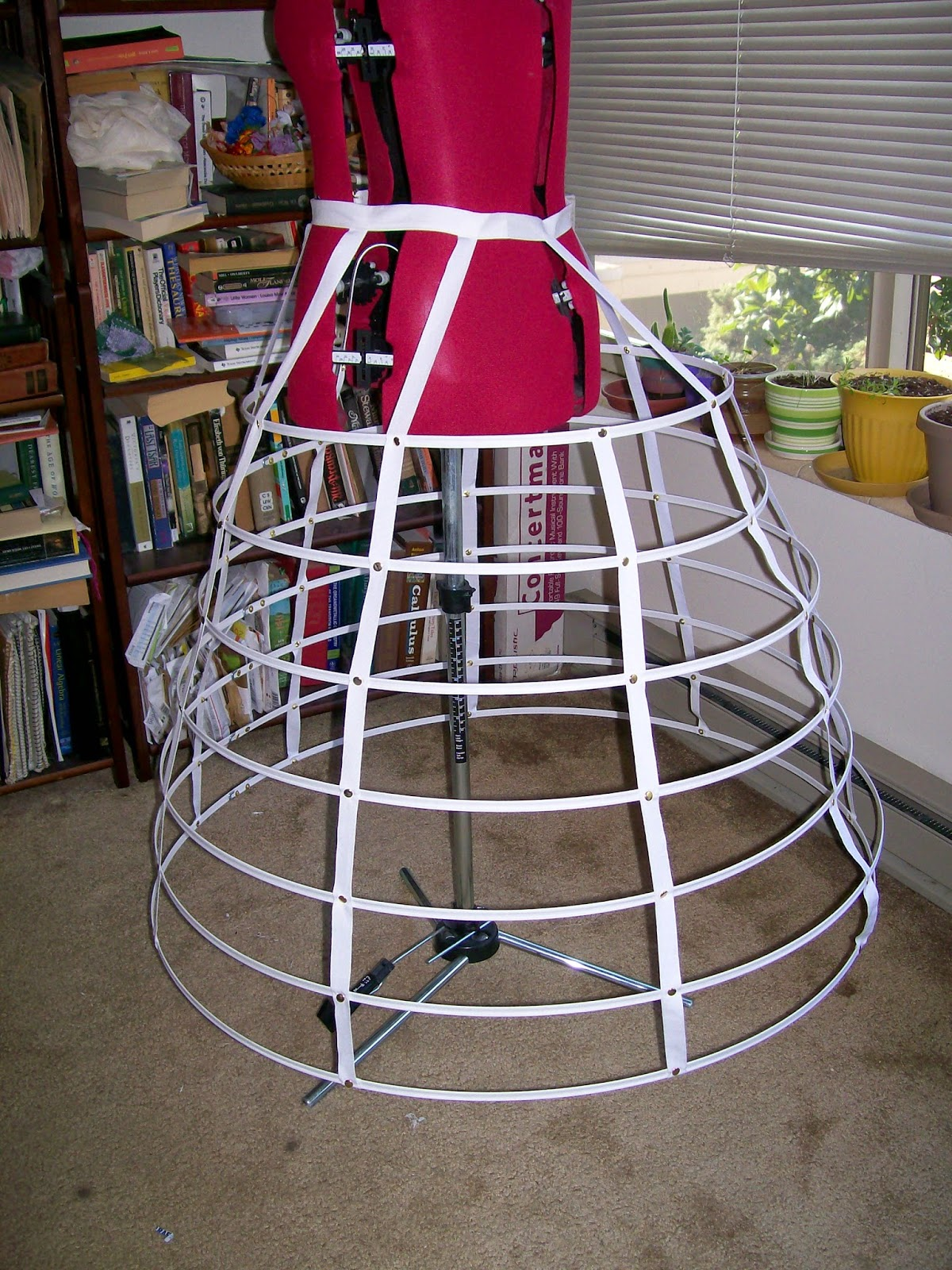 Back view of cage crinoline from Kayfig kit.