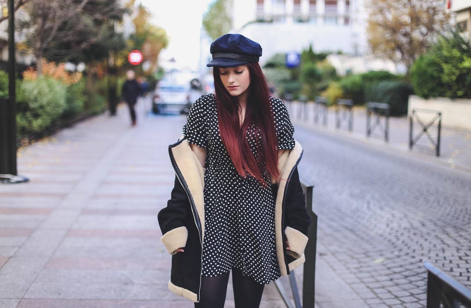 robe à pois blog mode