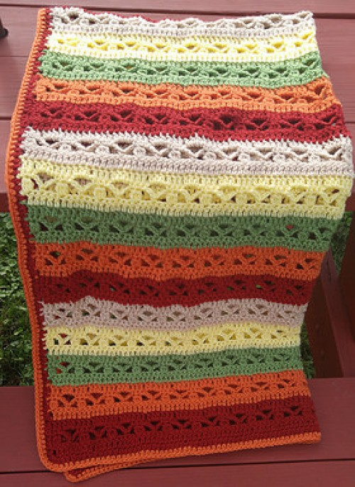 Fall Fantasy Blanket - Free Pattern