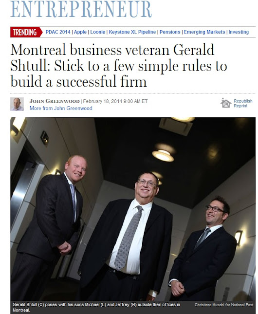 Financial Post Article Features GSA in Entrepreneur Section