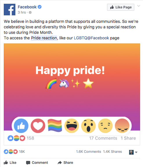 """Làm sao để """"thả cầu vồng"""" cảm xúc trên Facebook ?"""