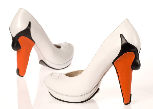 Swan high heels by Kobi Levi at if it's hip, it's here
