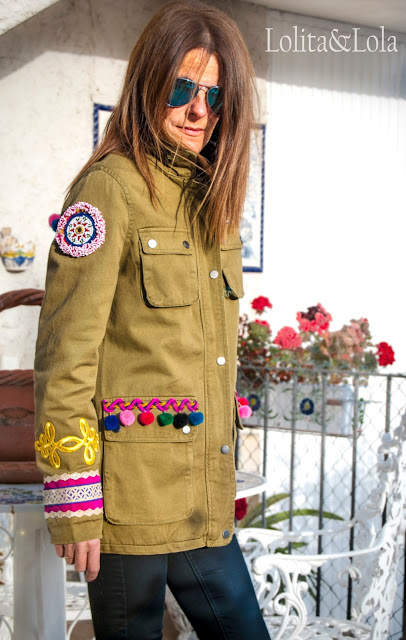 chaqueta safari boho chic jacket