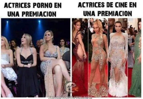 Actrices de cine para adulto vs Hollywood