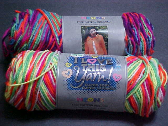 Danettes charity crafting: new colors of I love this yarn