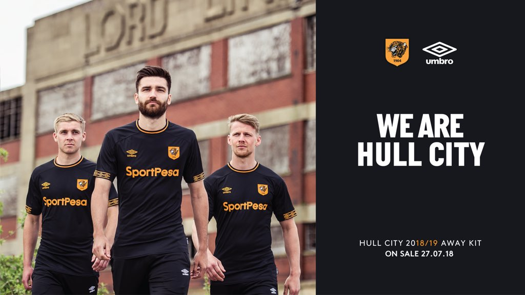 31c219b1383 English Championship club Hull City this morning revealed their new away  jersey for the 2018-2019 season. It is made by Umbro.