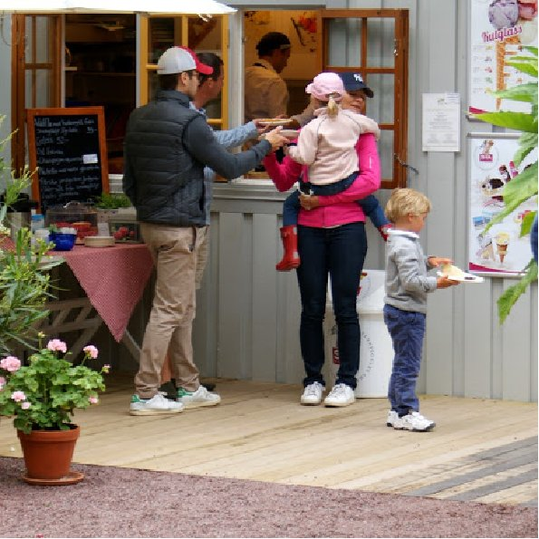 Princess Victoria of Sweden, husband Prince Daniel and their daughter Princess Estelle are seen during their year holidays in island of Öland, Sweden.