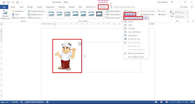 Mengatur Wrap Text Gambar