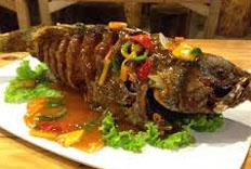 Resep praktis (mudah) ikan kerapu goreng saus mentega spesial (istimewa) enak, gurih, sedap, nikmat lezat