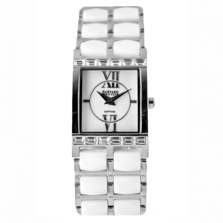 shopping online di lazada, online shopping di lazada, Harvard Polo Club 5020L-SS-WHT Ladies' Watch White & Silver