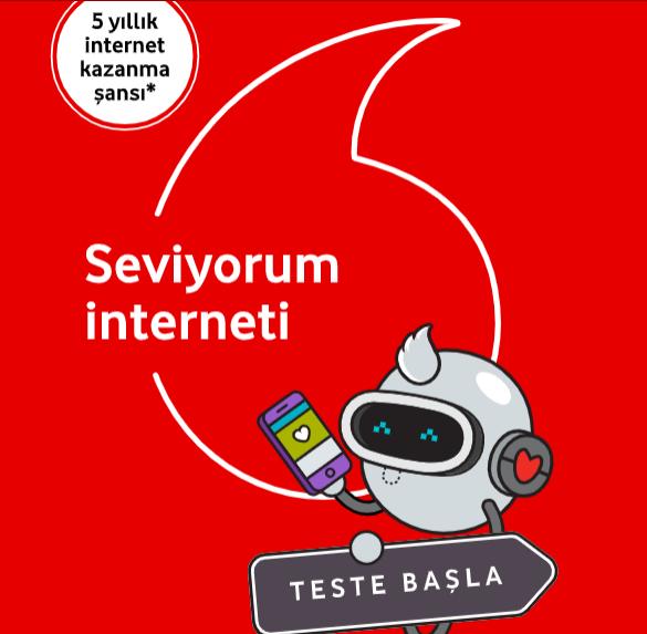 Vodafone #çekiliş ile 5 yıl internet verecek