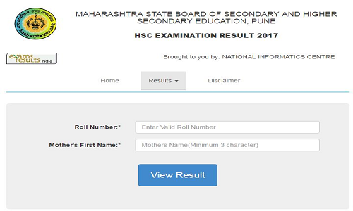 Maharashtra HSC March 2017 Results