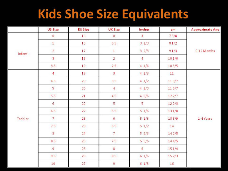 Convert Size  To Us Shoes