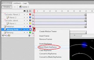 Cara Membuat Animasi Tata Surya Dengan Perintah Motion Guide Pada Macromedia Flash 8