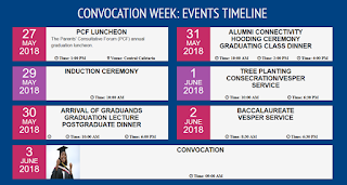 Babcock University Convocation Week: Events Timeline - 2018 [U.G ] & [P.G]