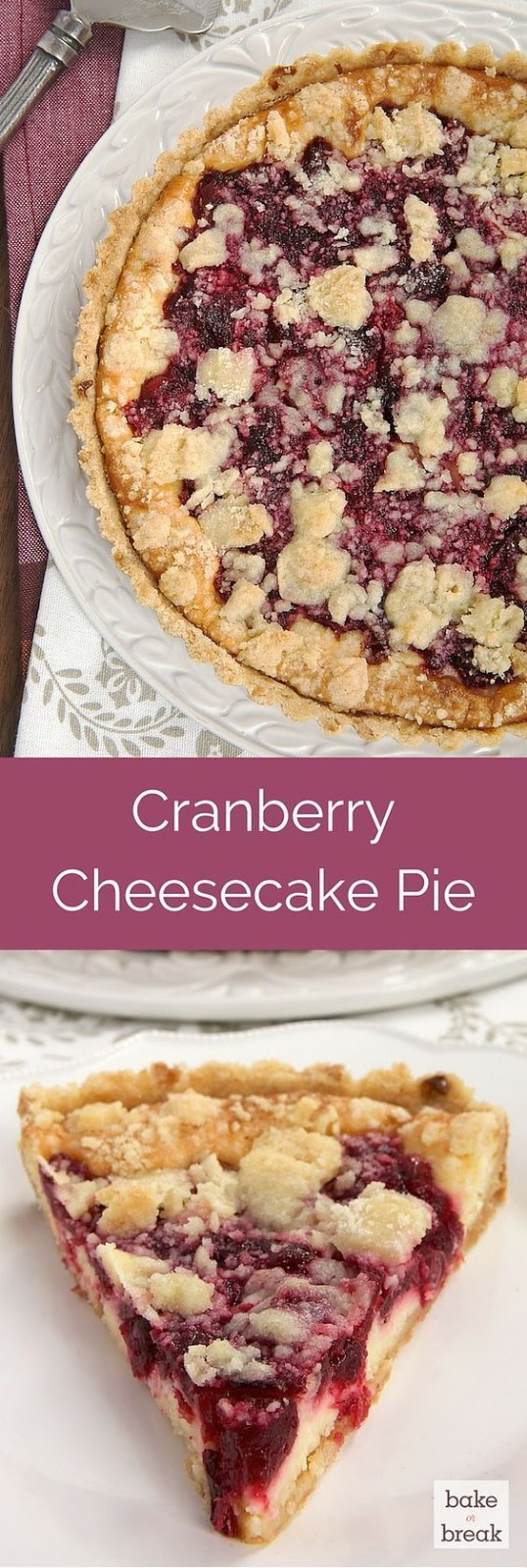 CRANBERRY CHEESECAKE PIE RECIPE