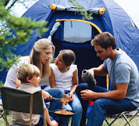 Family camping.