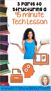 3 Parts to Structuring a 45 Minute Technology Lesson