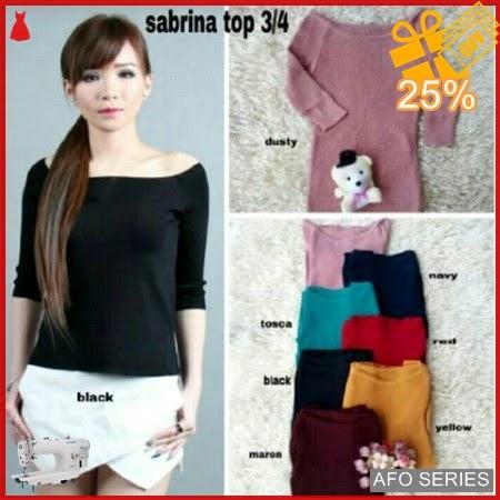 AFO280 Model Fashion Sabrina Top 34 Modis Murah BMGShop