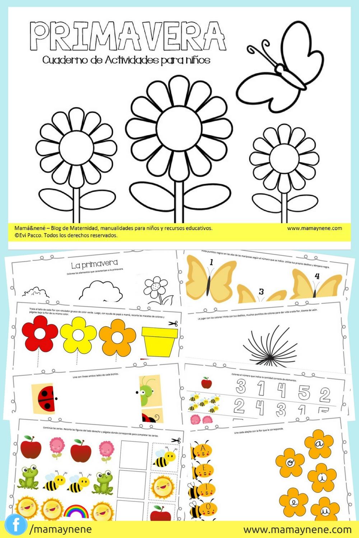 Primavera Cuaderno De Actividades Para Ninos Mama Nene