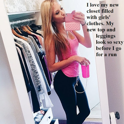 I love my new closet TG Caption - TG Captions and more - Crossdressing and Sissy Tales and Captioned images