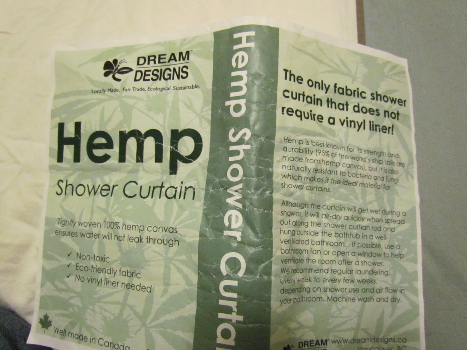 Hemp Shower Curtain Fighting The Mold And Plastic Monsters