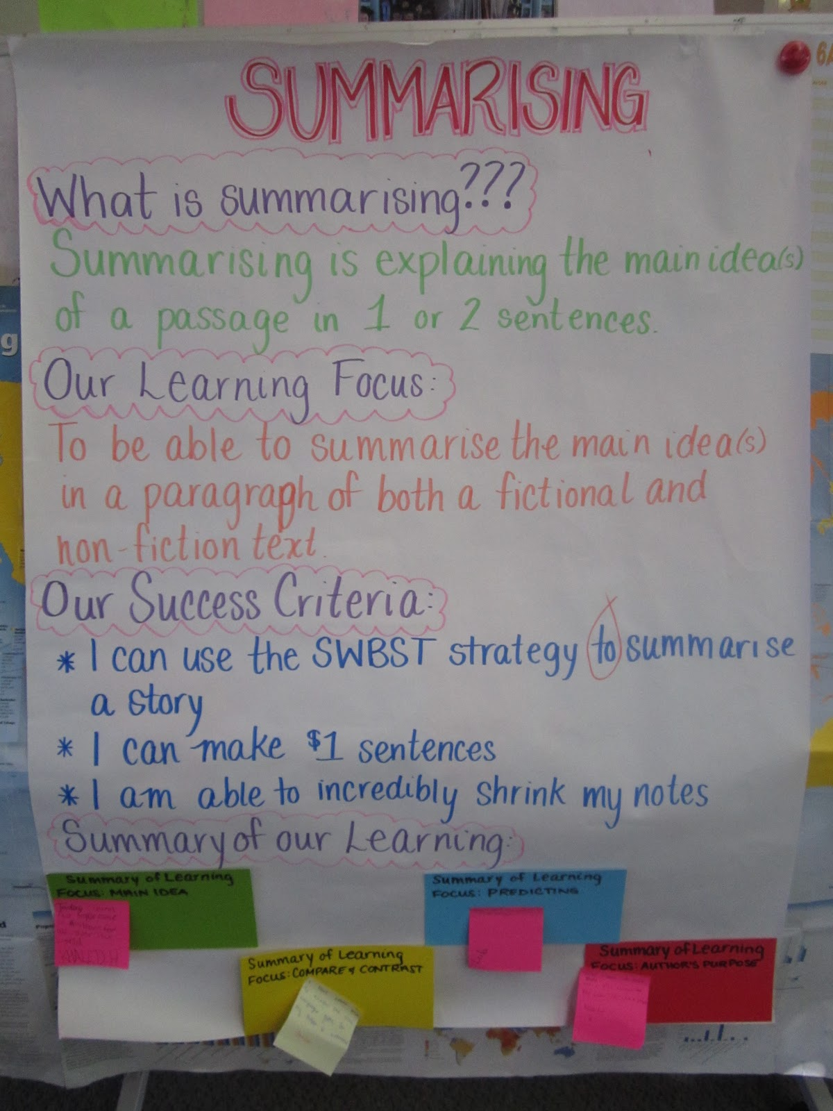 Miss A S Class Ideas Summarising