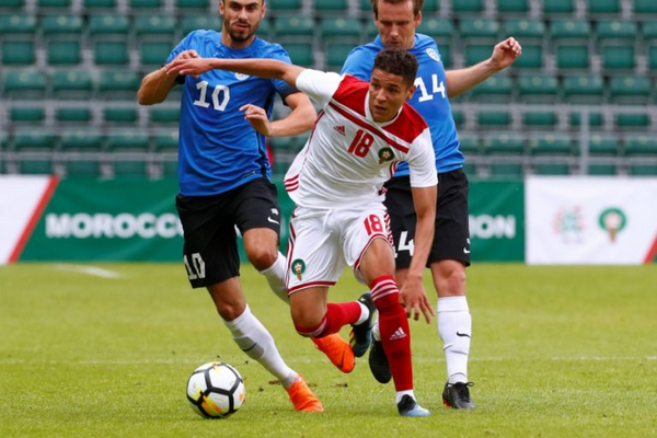 EST 1 MAROC 3 كرة القدم فوز المغرب في استونيا