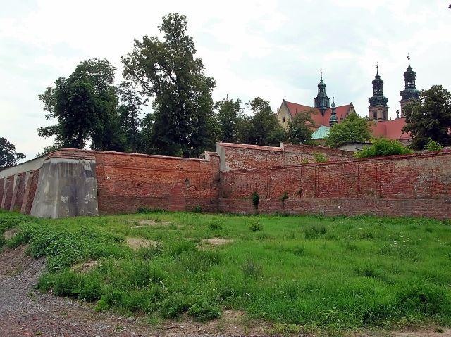 Lubiąż, opactwo, mury, Dolny Śląsk