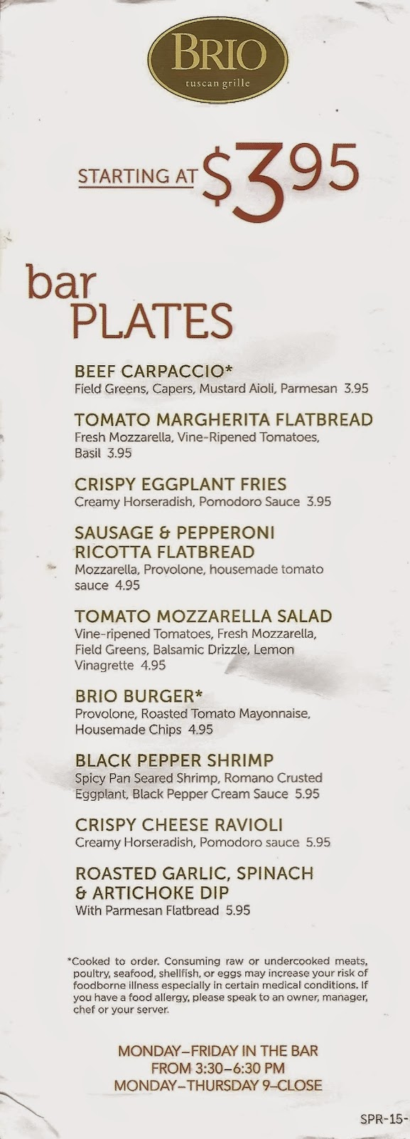 Southwest Florida Forks Happy Hour At Brio Tuscan Grille