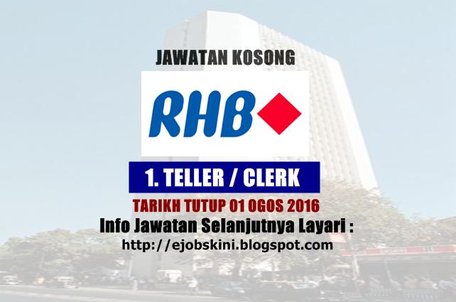 Jawatan kosong di rhb bank