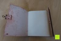 Buch aufschlagen: Creoly handgemachtes 'Day Of The Dead' Journal aus geprägtem Leder (15cm x 20cm)