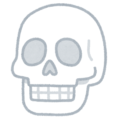シンプルな頭蓋骨のイラスト