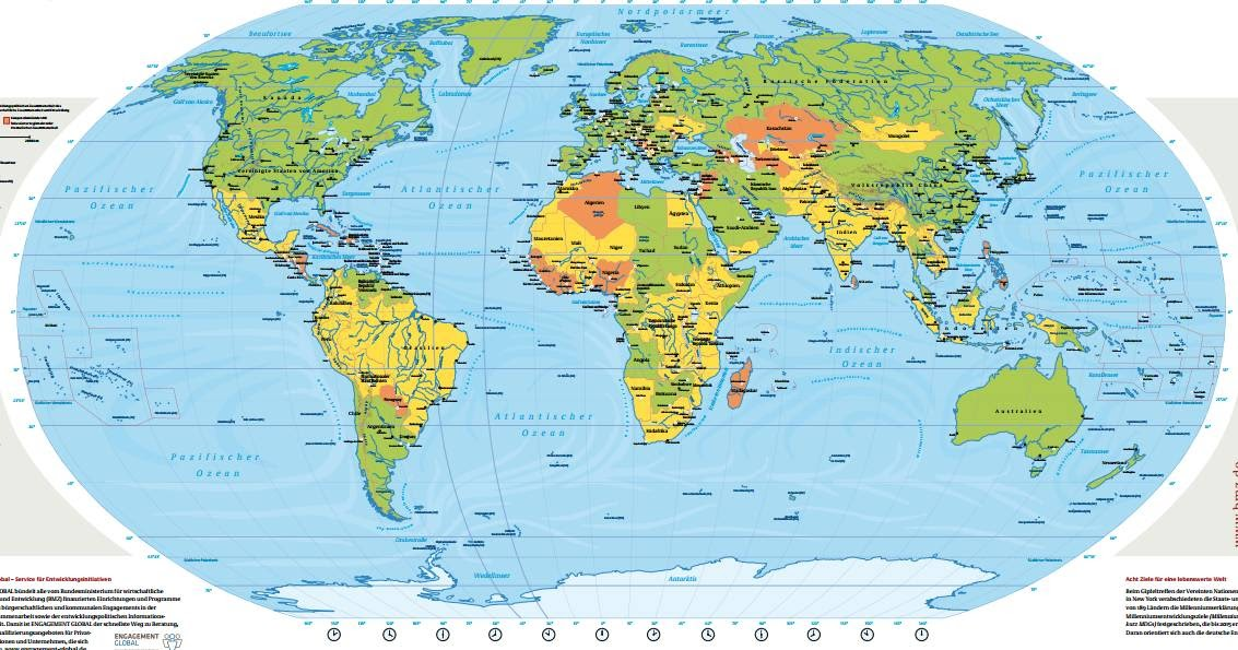 Gratis Mappa cartina del Mondo, Mappamondo GratisoQuasi