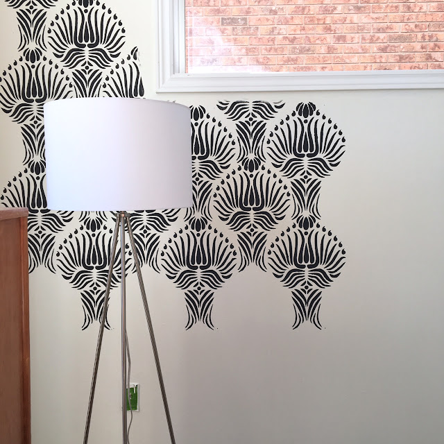 Tripod-lamp-office-makeover-decor-bouclair-harlow-and-thistle