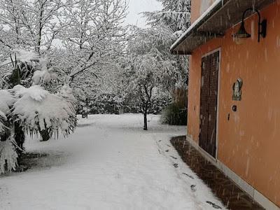 neve nell'orto di Elle e Alli