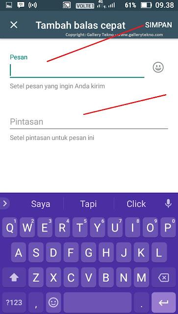 Cara Menambah dan Menggunakan Quick Reply di WhatsApp Business